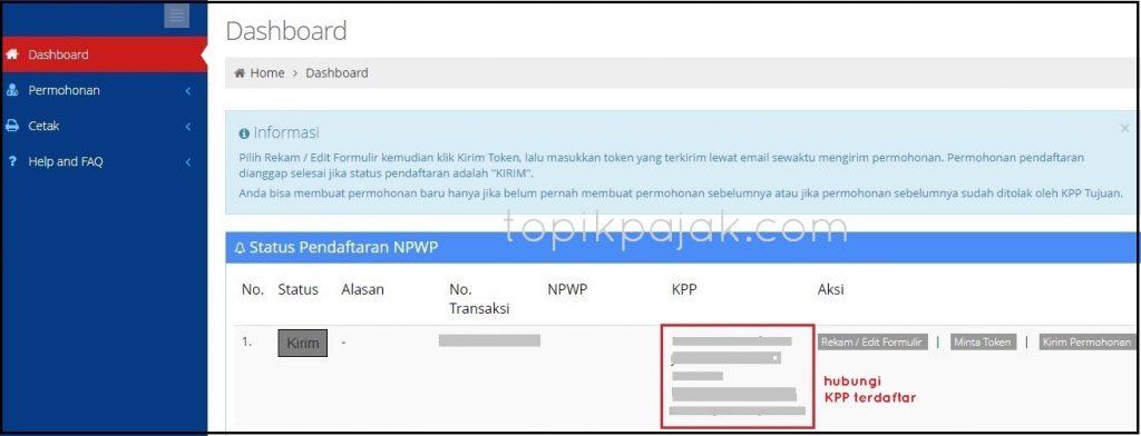 NPWP Online Pribadi